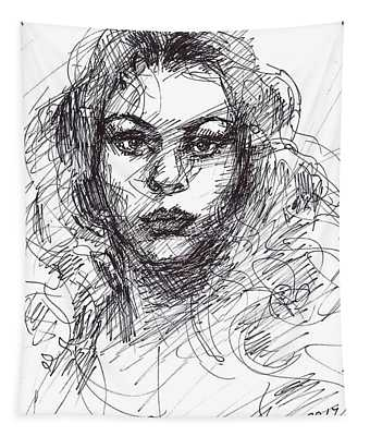Portrait Sketch  Tapestry