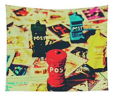 Postage Pop Art Tapestry