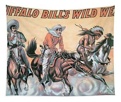 Poster For Buffalo Bill's Wild West Show Tapestry
