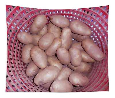 Potatoes In Basket  Tapestry