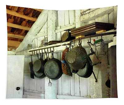 Pots In Kitchen Tapestry