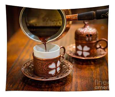 Poured Turkish Coffee Tapestry