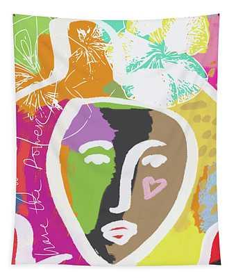 Powerful Girl- Art By Linda Woods Tapestry