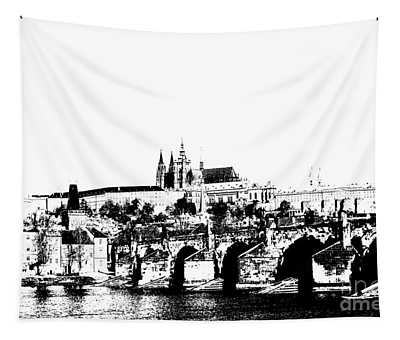 Prague Castle And Charles Bridge Tapestry