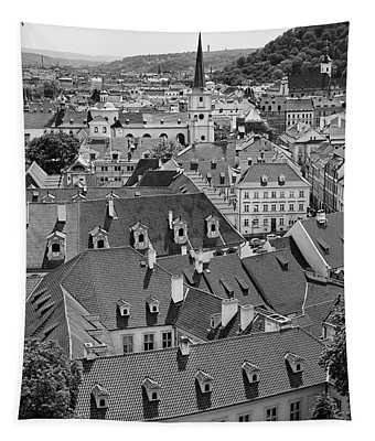 Prague Rooftops Tapestry