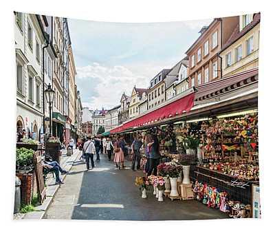 Prague Street Market Tapestry