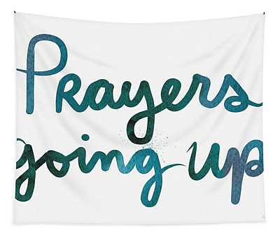 Prayers Going Up- Art By Linda Woods Tapestry