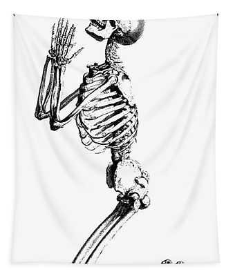 Praying Skeleton Tapestry