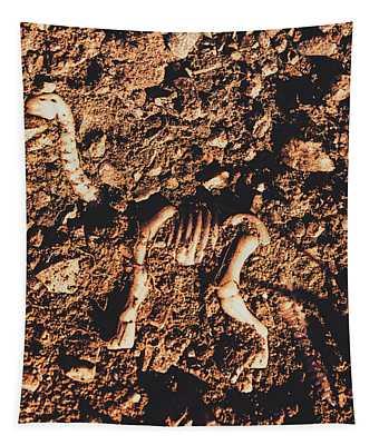 Prehistoric Diplodocus Bones Tapestry