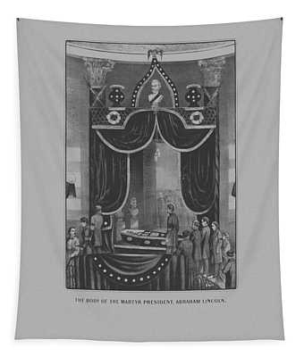 President Abraham Lincoln Lying In State Tapestry