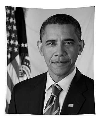 President Barack Obama - Official Portrait Tapestry