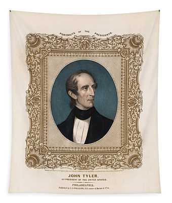 President John Tyler - Vintage Color Portrait Tapestry