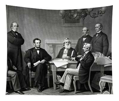 President Lincoln And His Cabinet Tapestry