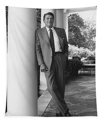 President Reagan Outside The White House Tapestry