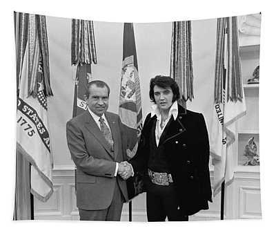 President Richard Nixon Meeting Elvis Tapestry