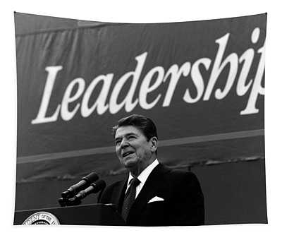 President Ronald Reagan Leadership Photo Tapestry