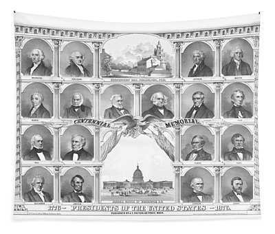 Presidents Of The United States 1776-1876 Tapestry