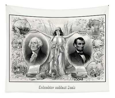 United States Presidents Drawings Wall Tapestries