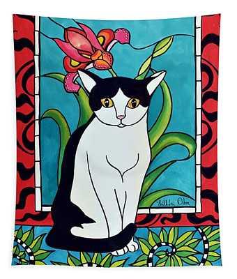 Pretty Me In Tuxedo Tapestry