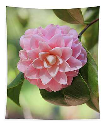Pretty Pink Camellia 2- Photography By Linda Woods Tapestry