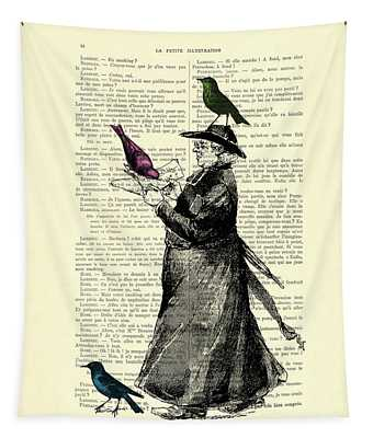 Priest And Birds Tapestry