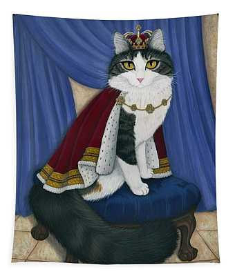 Prince Anakin The Two Legged Cat - Regal Royal Cat Tapestry