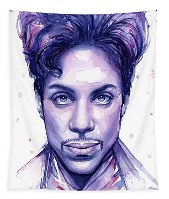 Prince Purple Watercolor Tapestry