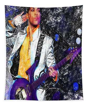 Prince - Tribute With Guitar Tapestry