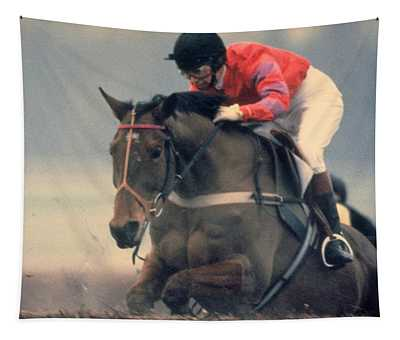 Princess Anne Riding Cnoc Na Cuille At Kempten Park Tapestry