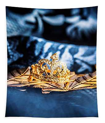 Princess Cut Diamond Ring Tapestry