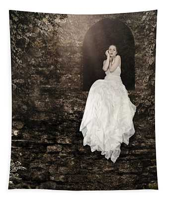 Princess In The Tower Tapestry