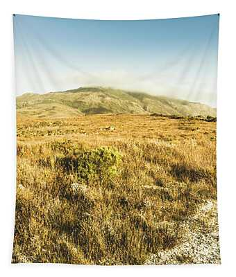 Pristine Mountain Plains Tapestry