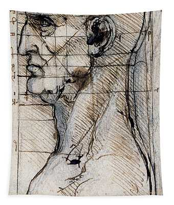 Proportions Of The Face Tapestry
