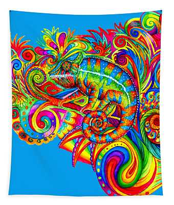 Psychedelizard Tapestry