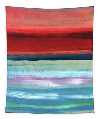 Pueblo- Abstract Art By Linda Woods Tapestry