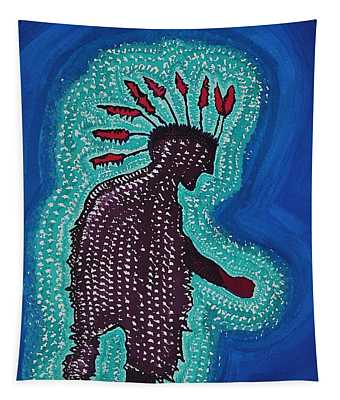 Punk Shaman Original Painting Tapestry