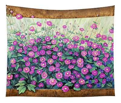 Purple And Pink Flowers Tapestry
