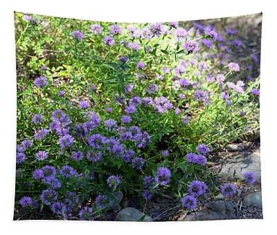 Purple Bachelor Button Flower Tapestry