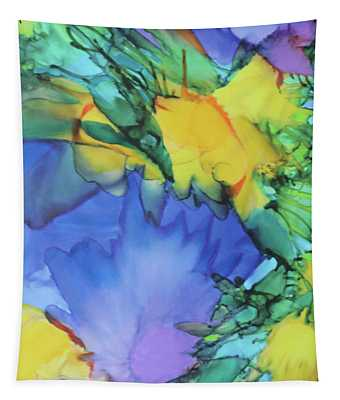 Purple Bird Of Paradise Tapestry