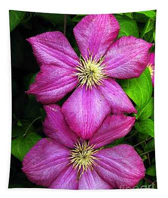 Purple Clematis 2 Tapestry