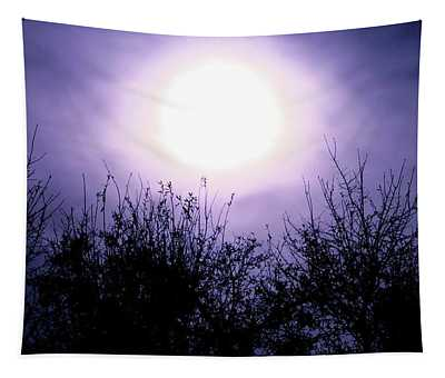 Purple Eclipse Tapestry