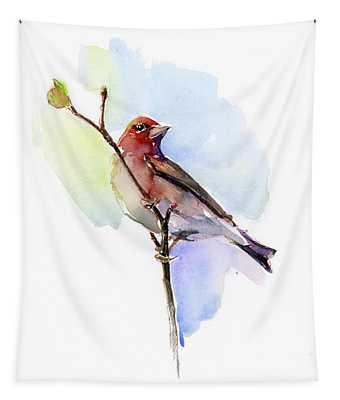 Purple Finch Tapestry
