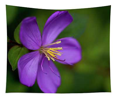 Purple Flower Macro Tapestry
