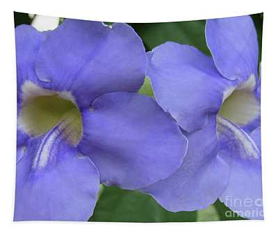 Purple Flower Picture Perfect Tapestry
