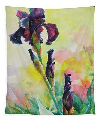 Purple Iris Tapestry