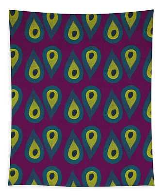 Purple Peackock Print  Tapestry