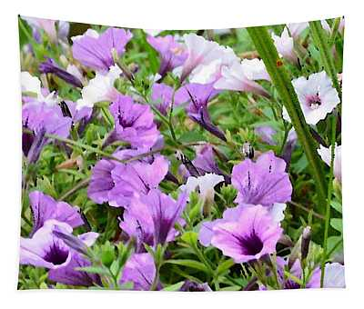 Purple Petunias Tapestry