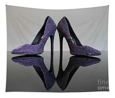 Purple Stiletto Shoes Tapestry