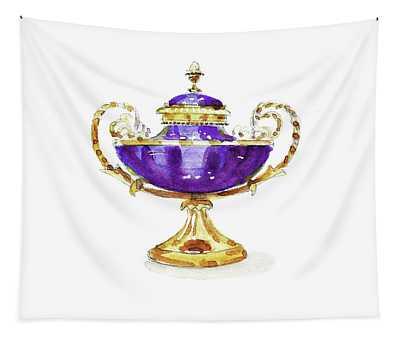 Purple Vase Tapestry