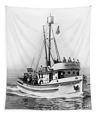 Purse Seiner Western Flyer On Her Sea Trials Washington 1937 Tapestry